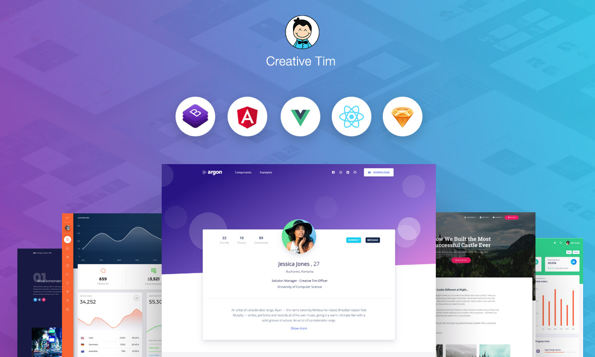 Creative-TIM - Premium Bootstrap Themes and Templates