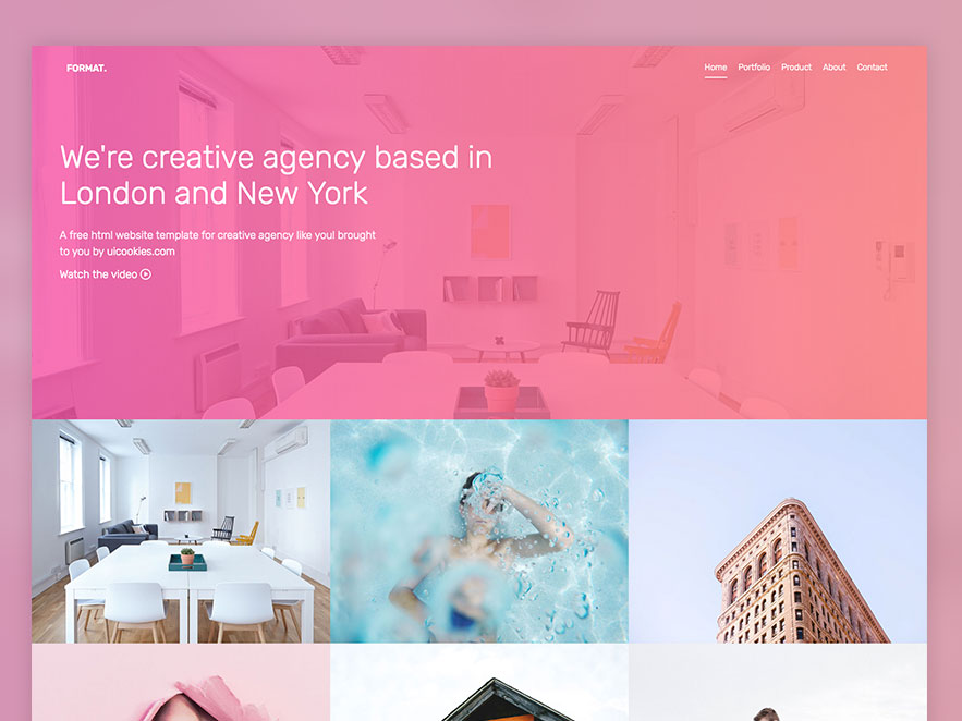 14.	Format – Free Website Template Using Bootstrap For Portfolio