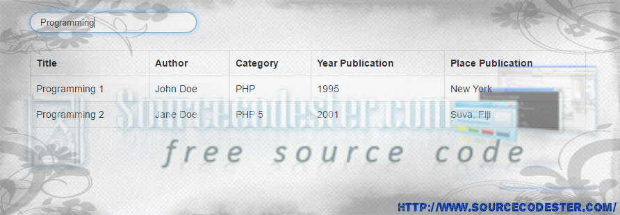 Retrieve data from database in php and display in table format