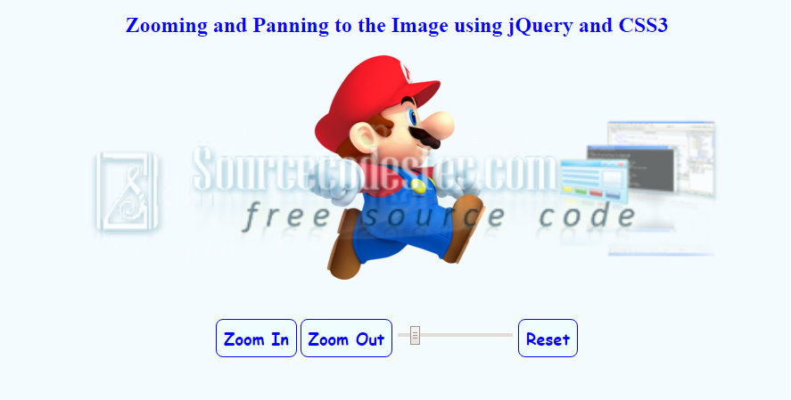 Zooming and Panning to the Image using jQuery and CSS3