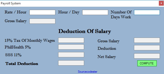 Visual Basic Payroll System Free Source Code Tutorials