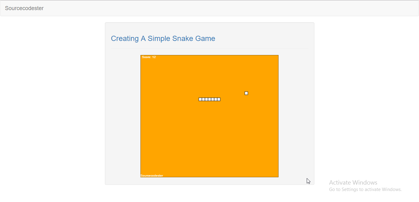 Creating A Very Simple Snake Game Using jQuery | Free Source Code