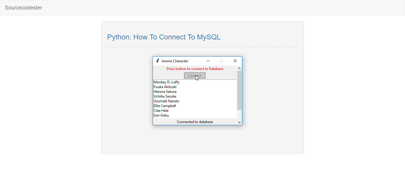 python  how to connect to mysql