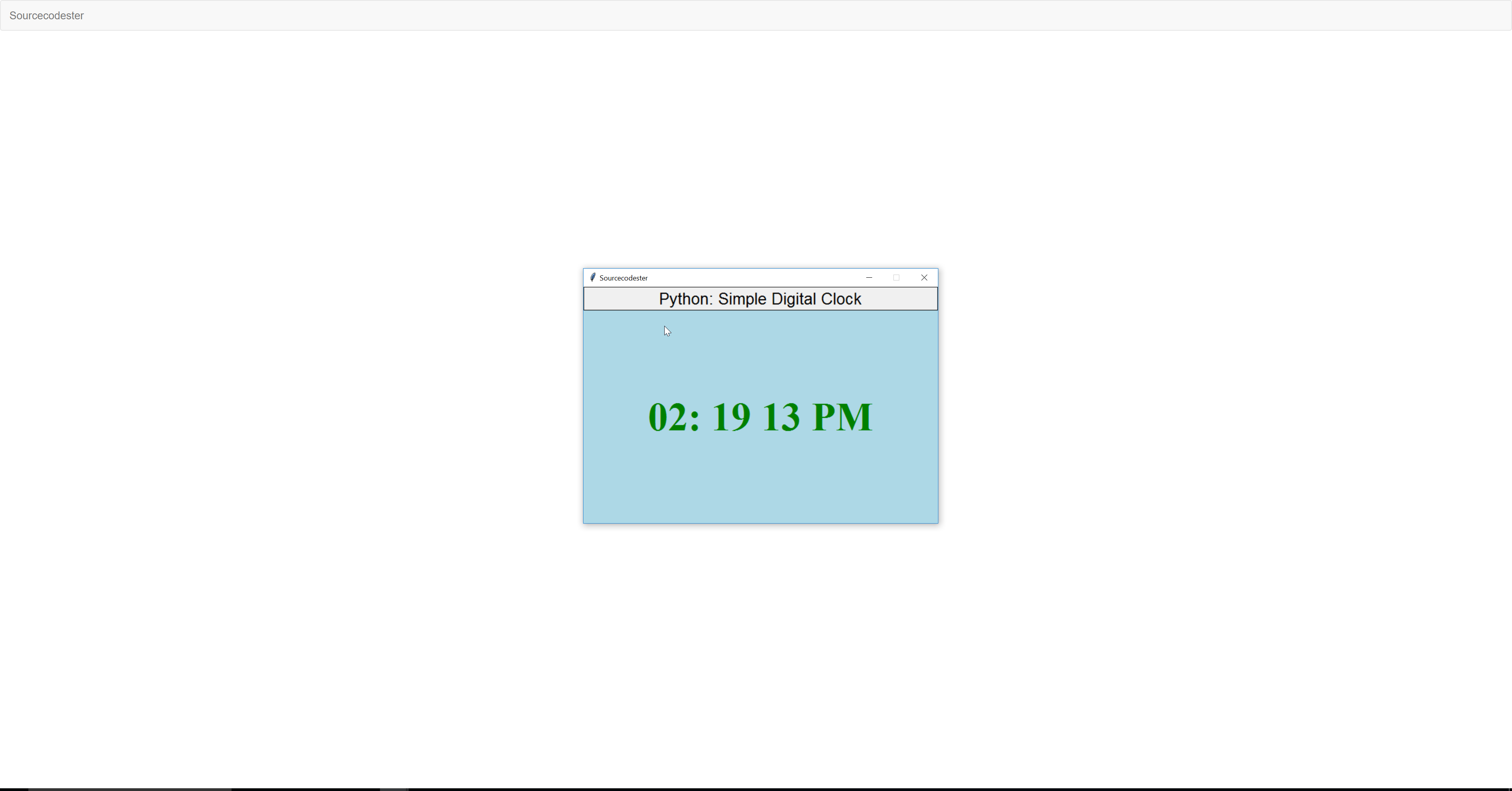 Python: Simple Digital Clock | Free Source Code & Tutorials