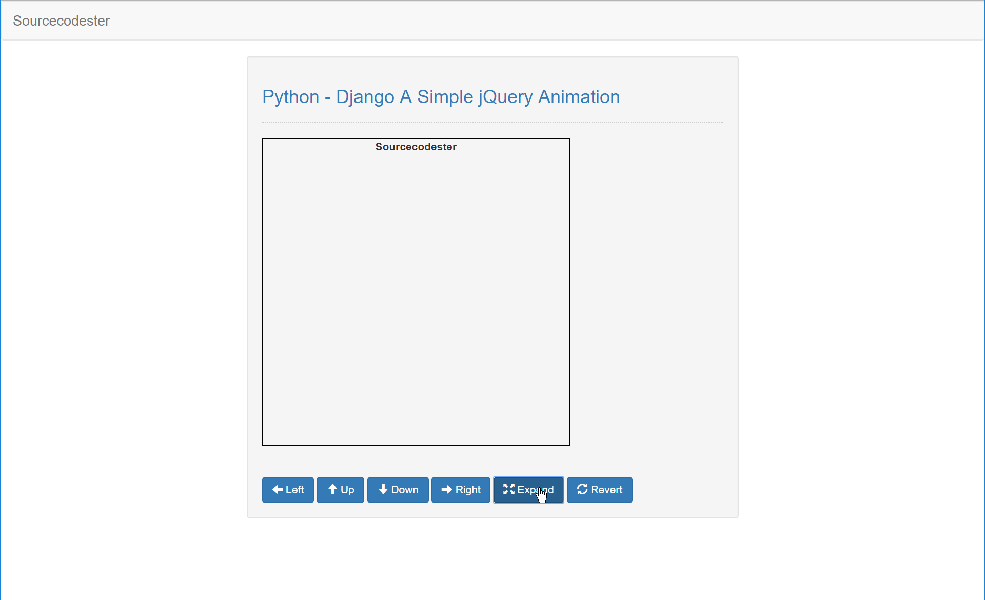Python - Django A Simple jQuery Animation | Free source code ...