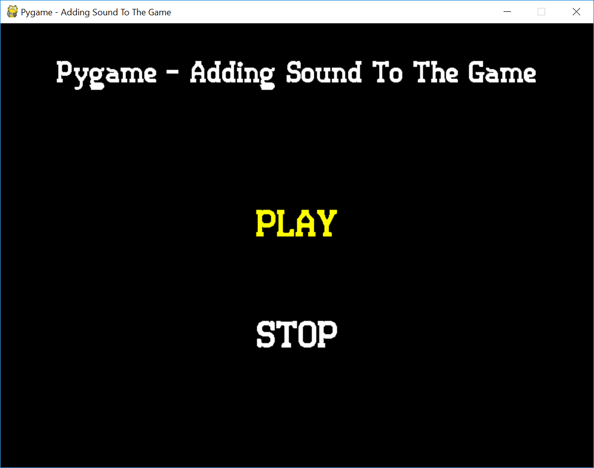 Python - Pygame Adding Sound To The Game | Free Source Code