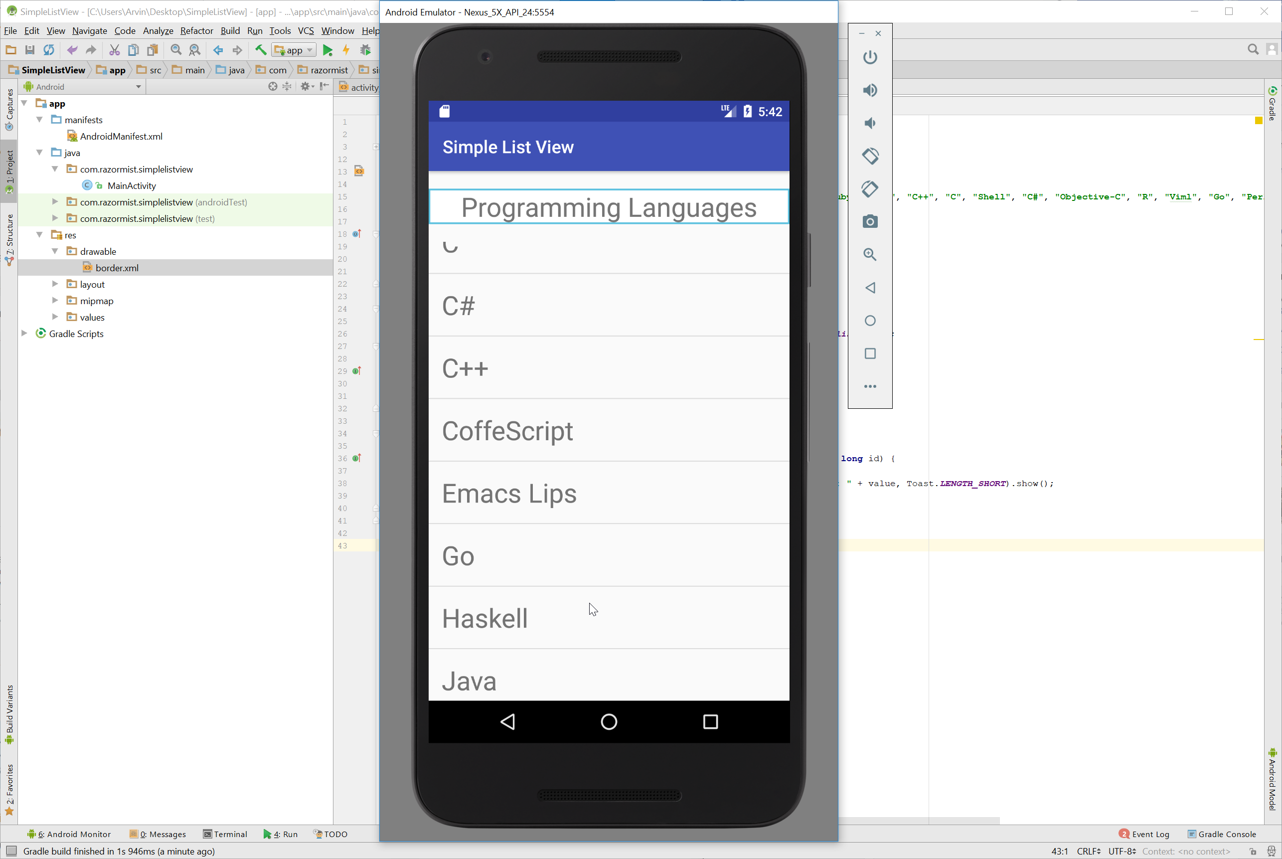 how to develop a simple android app