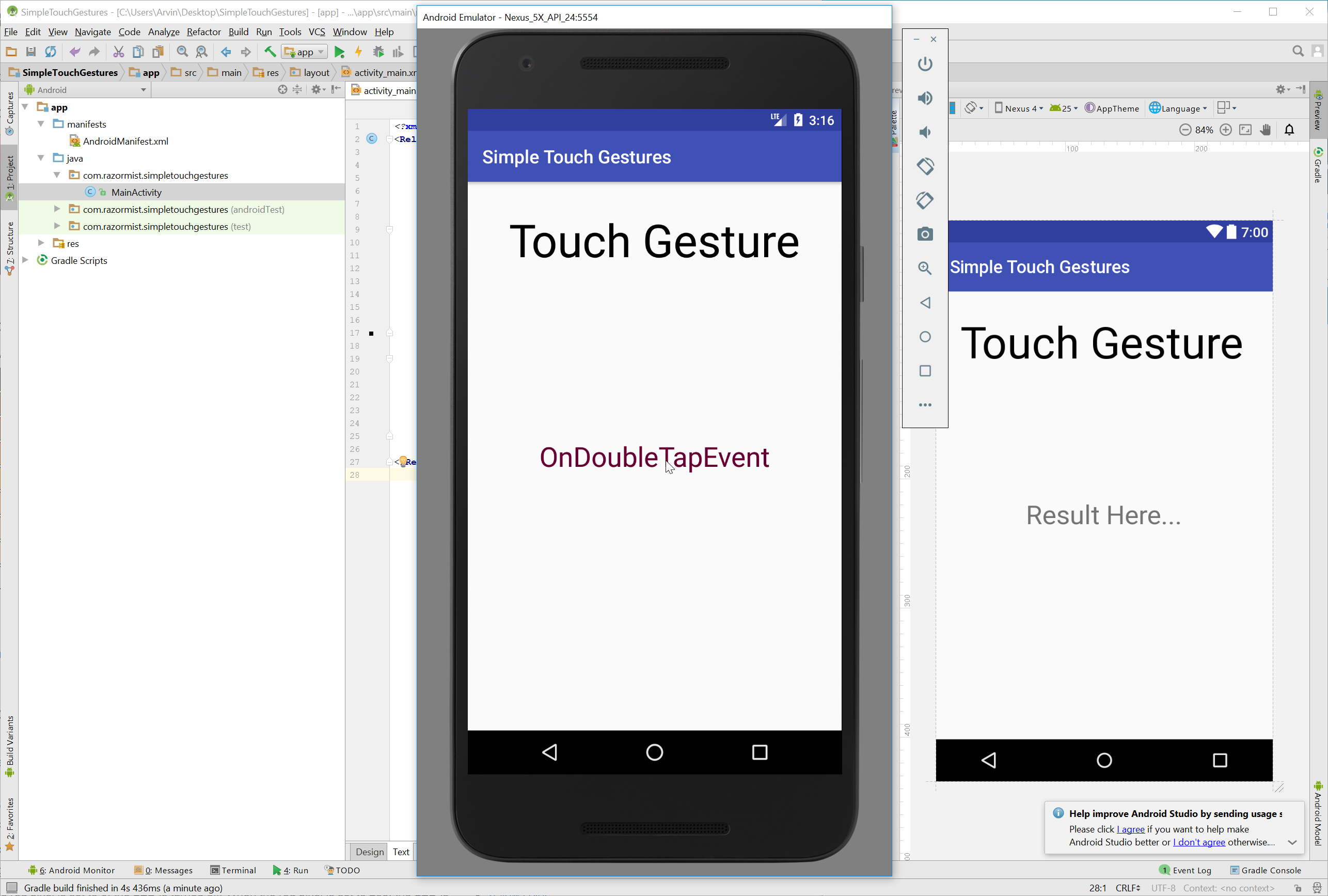 android simple touch gesture free source code develop desktop apps with python creating desktop application using python