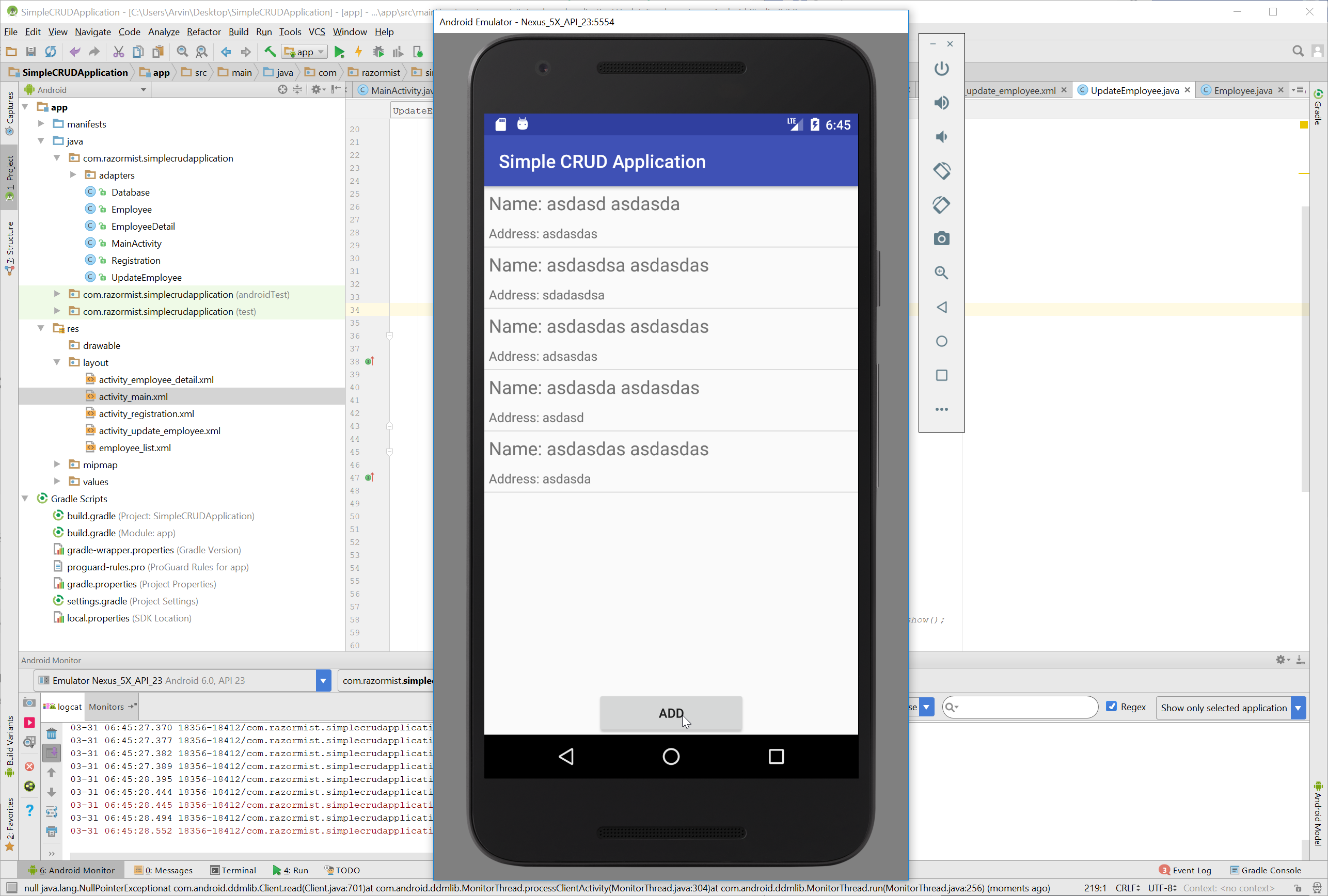 Android - Simple CRUD Application   Free Source Code & Tutorials