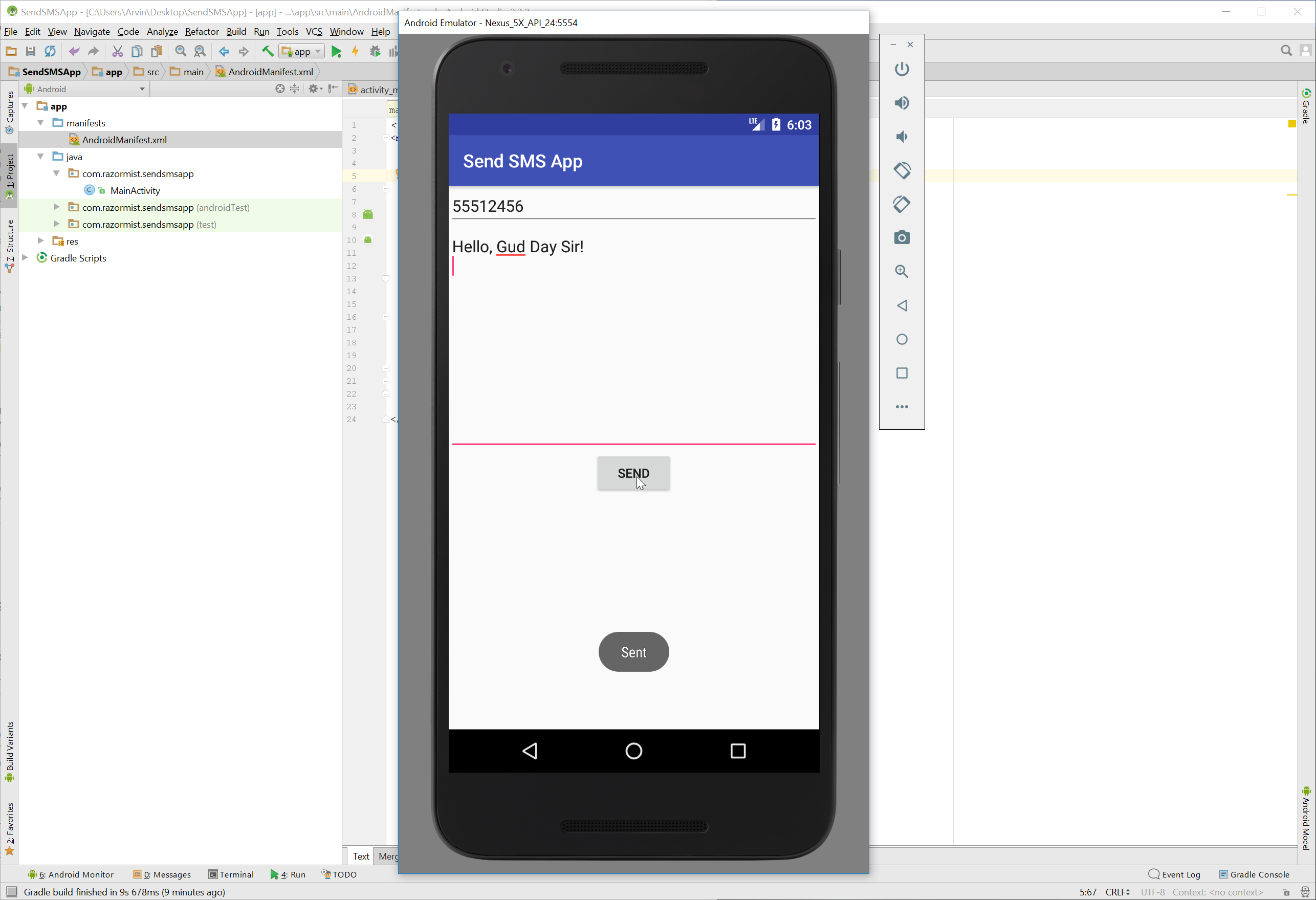 Android simple sending sms free source code tutorials and in this tutorial we will try to create a simple sending sms using android this tutorial is only an example for sending an sms it does not contain the baditri Image collections