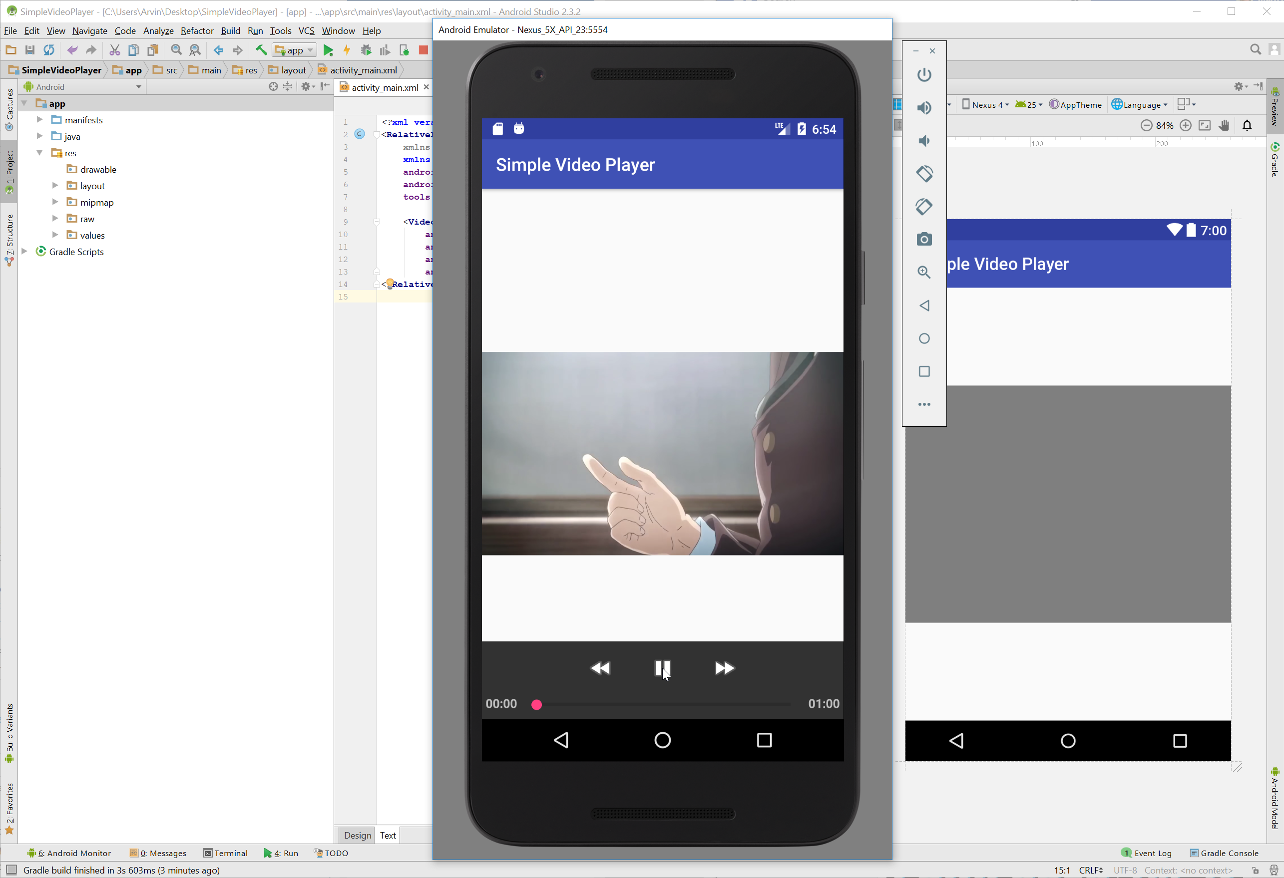 Android simple video player free source code tutorials and in this tutorial we will try to create a simple video player using android this simple application can be use in viewing some videos baditri Image collections