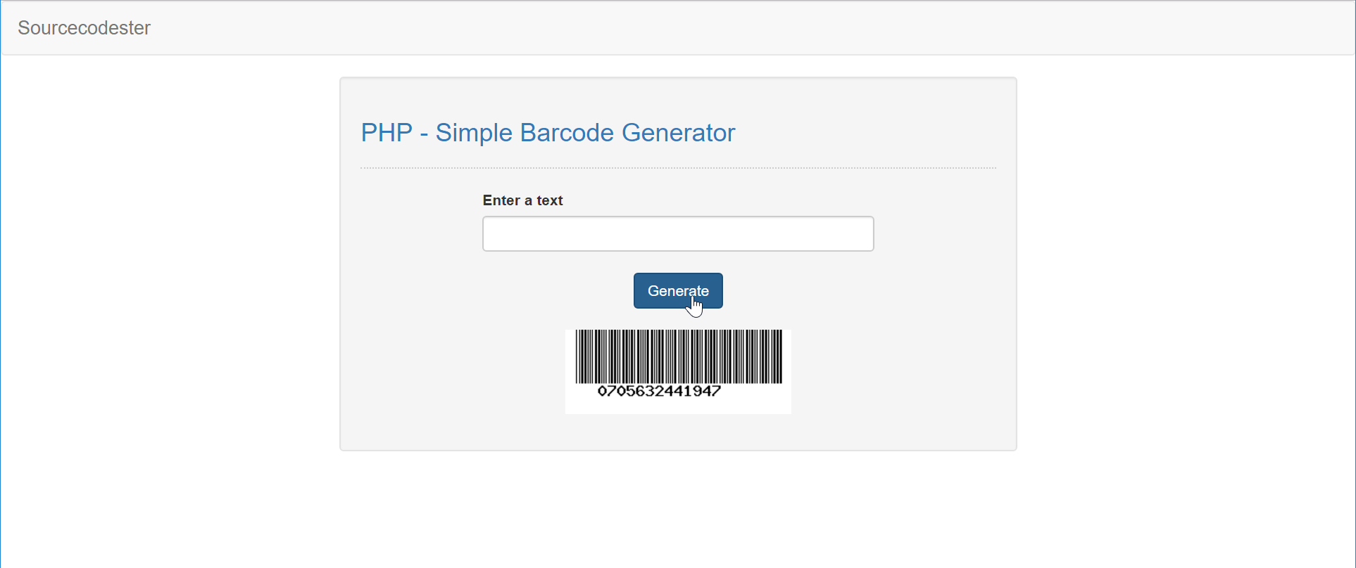 PHP - Simple Barcode Generator | Free Source Code & Tutorials