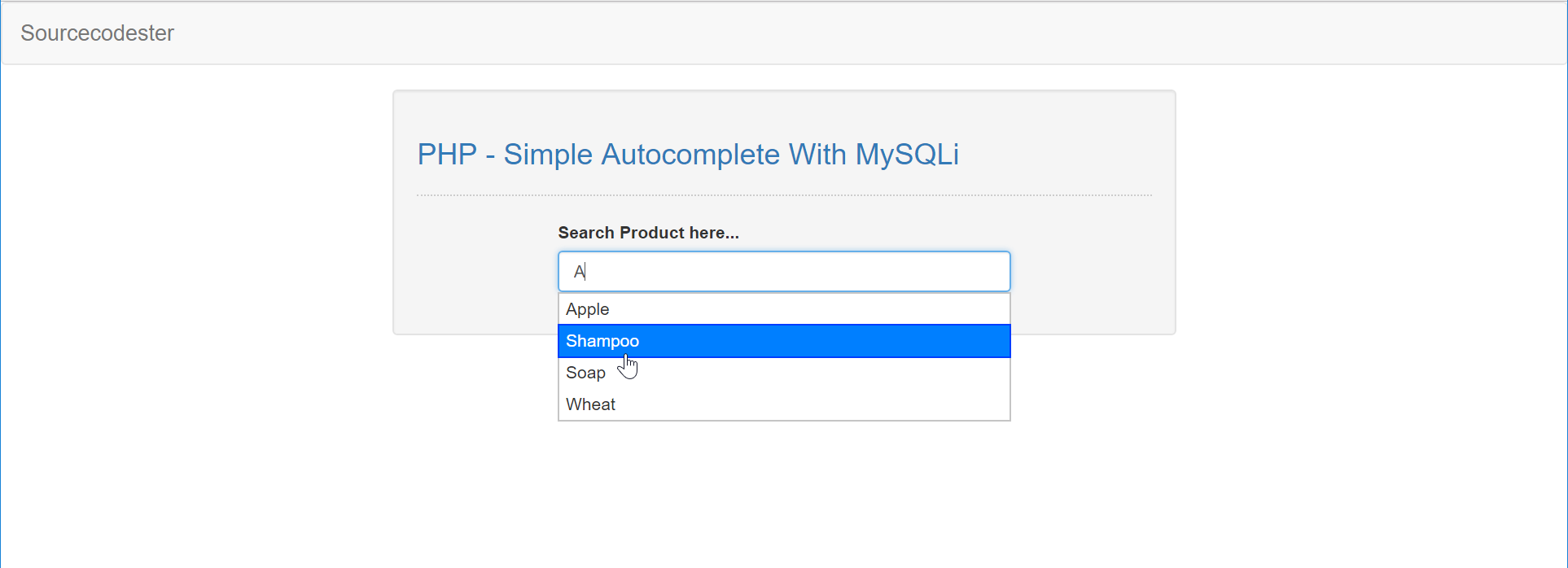 PHP - Simple Autocomplete With MySQLi & jQuery | Free Source Code