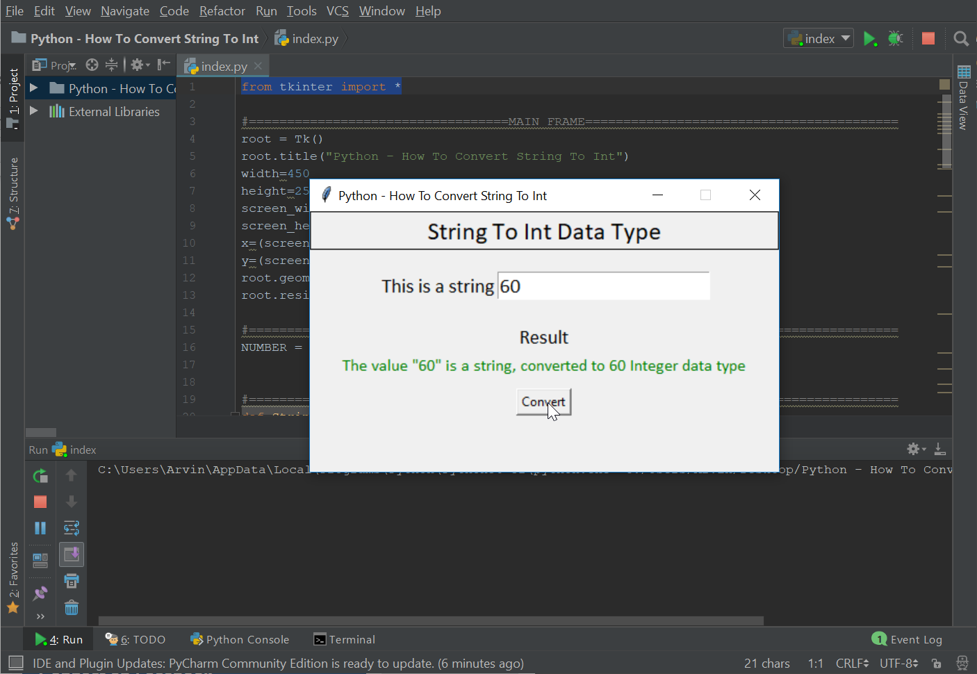 Python - How To Convert String To Int | Free Source Code & Tutorials