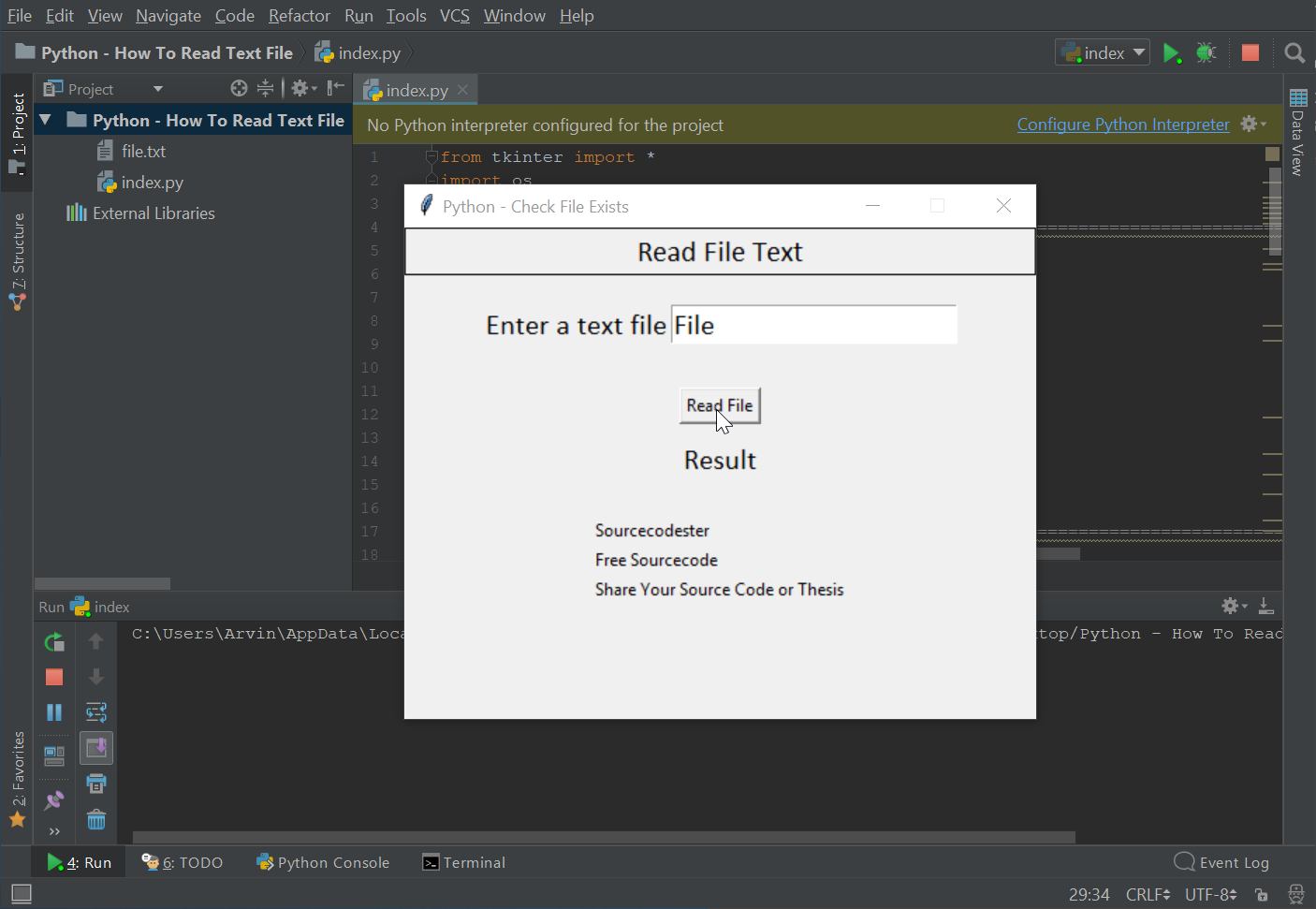 Python - How To Read Text File | Free Source Code & Tutorials