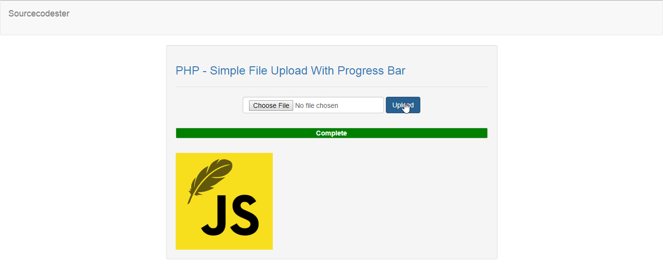 PHP - Simple File Upload With Progress Bar | Free Source Code
