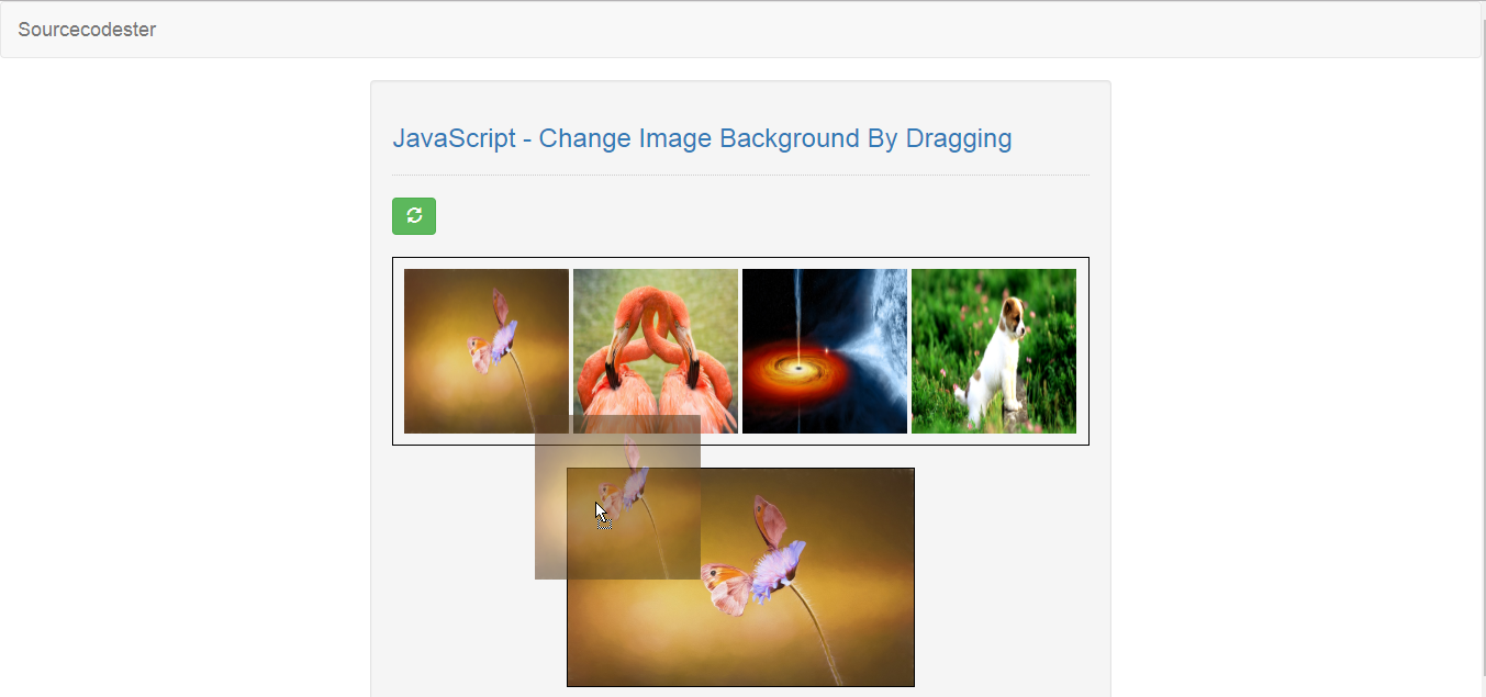 JavaScript - Change Image Background By Dragging   Free Source Code