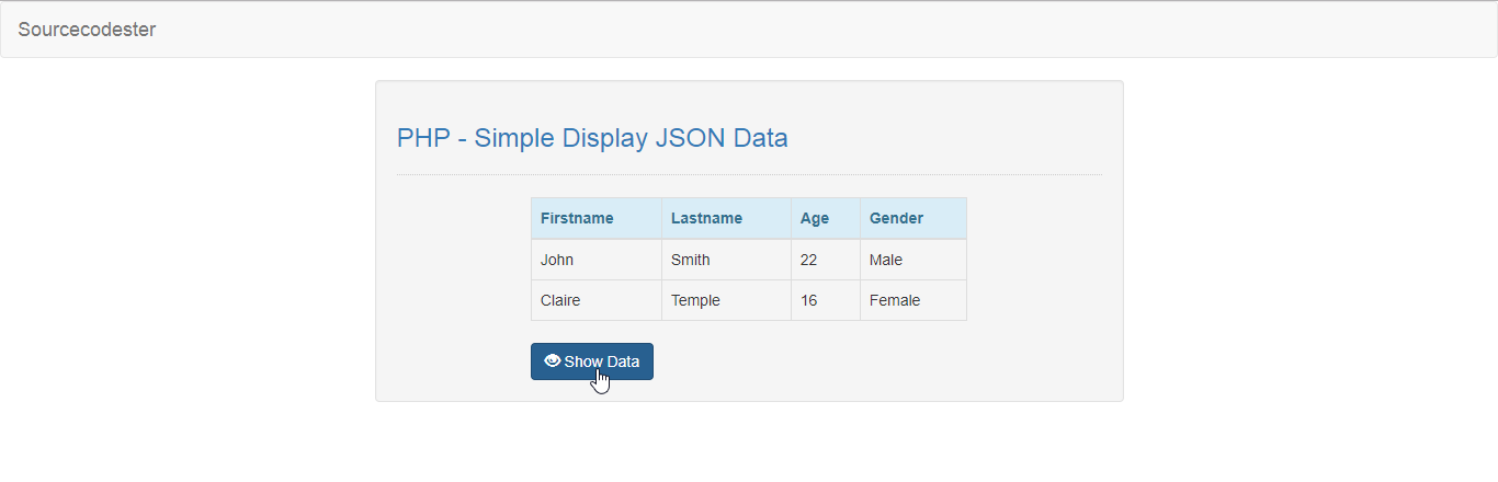 PHP - Simple Display JSON Data | Free Source Code & Tutorials