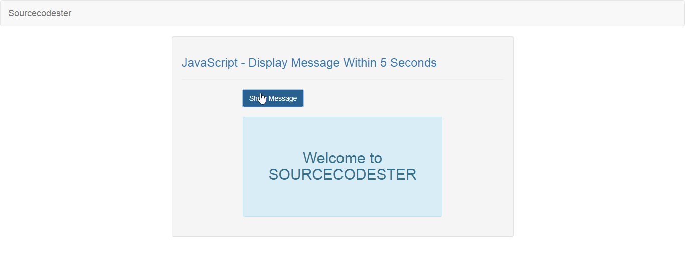 JavaScript - Display Message Within 5 Seconds   Free Source