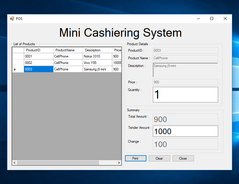 Mini Cashiering System Using C# | Free Source Code & Tutorials