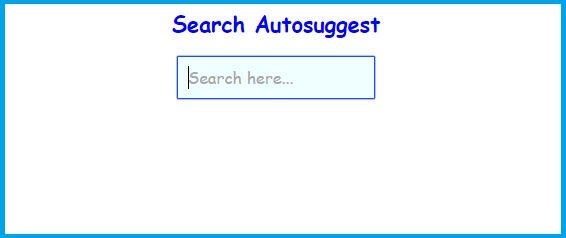search - How to make a simple autocomplete searchbox that ...