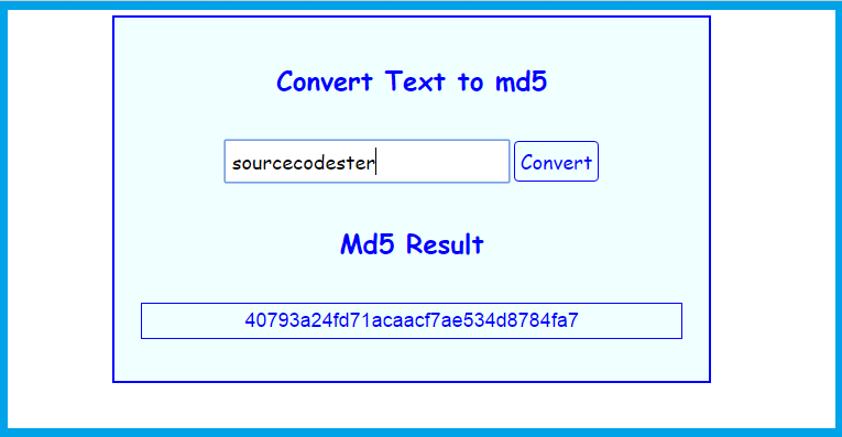 How to Convert Text in md5 using PHP/MySQL | Free Source