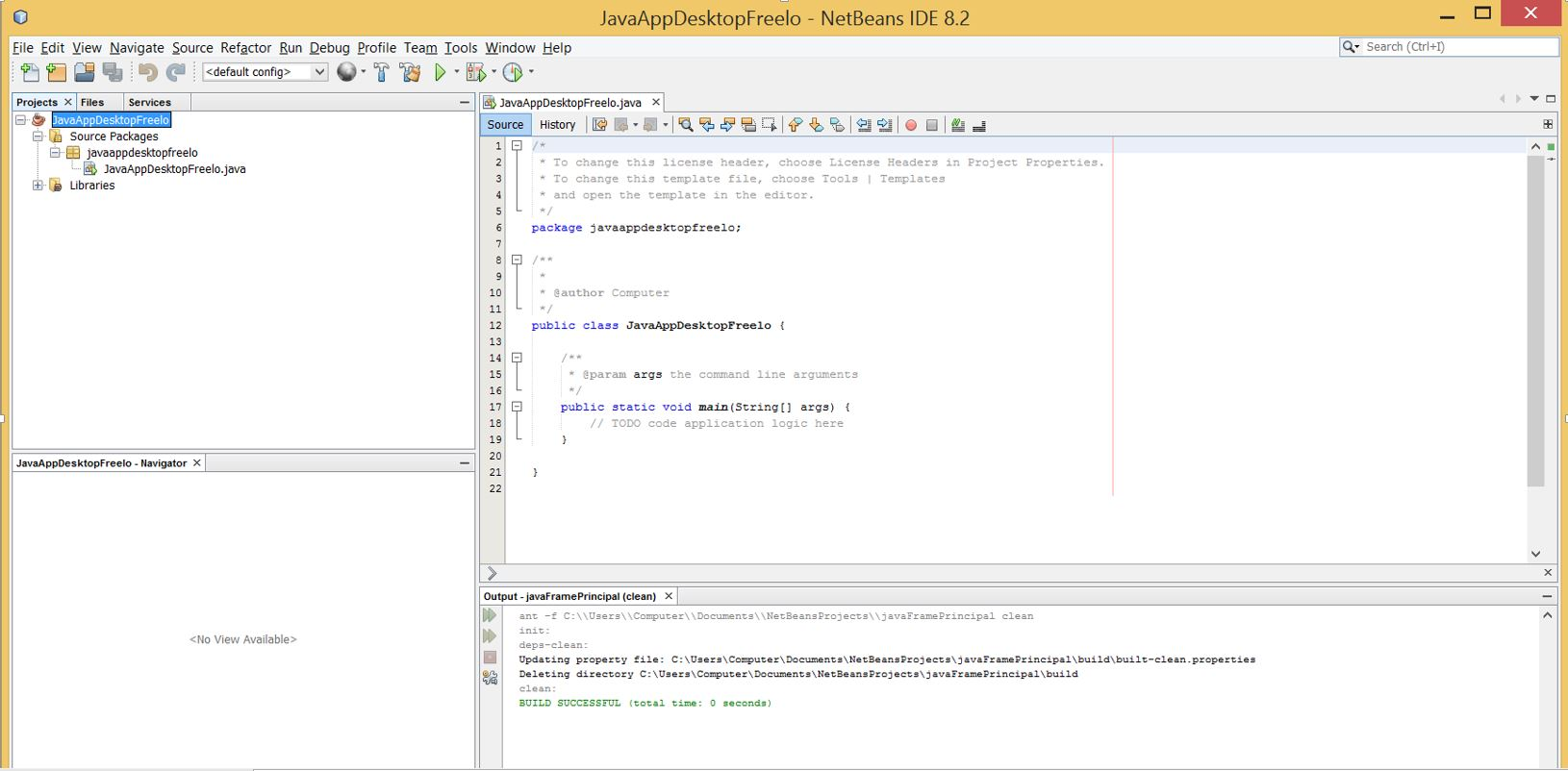 Introducing to Swing GUI Forms with Netbeans - Create new