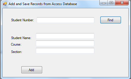 Adding and Saving Records to Access Database using VB NET