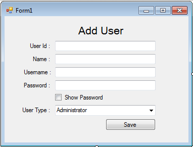 How to set your TextBox to Show and Hide Password in the User