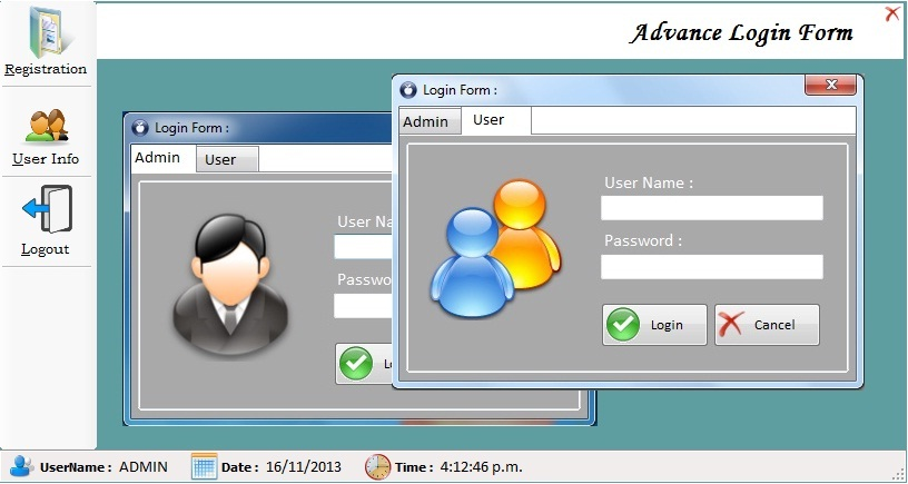 Advance Login Form Using C And Sql Free Source Code