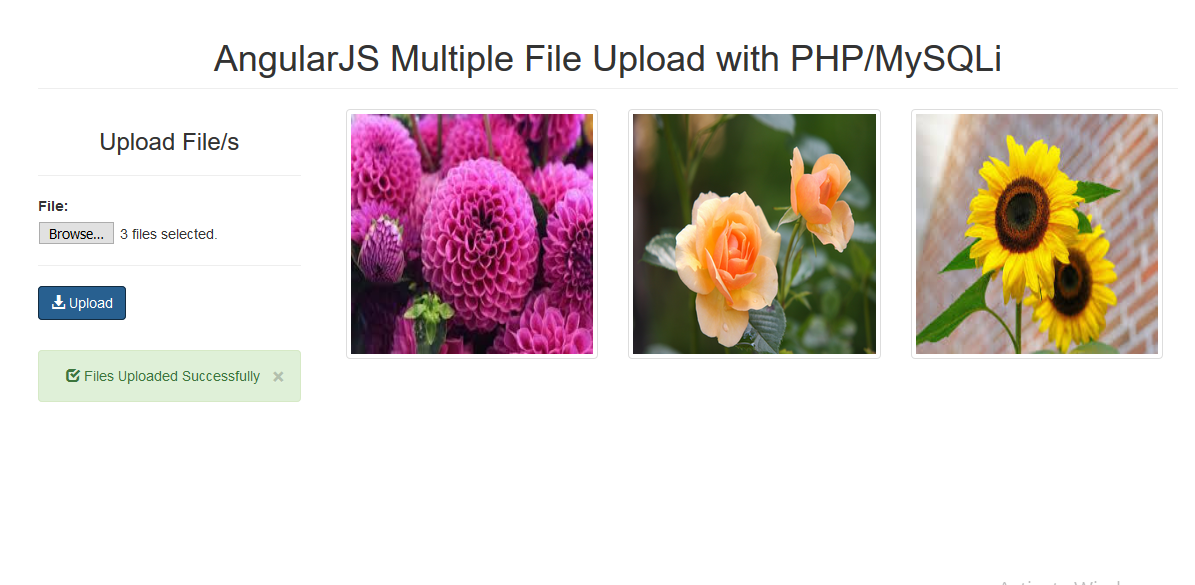 AngularJS Multiple File Upload with PHP/MySQLi | Free Source Code