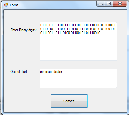 Binary To Text Conversion in VB.NET | Free source code ...