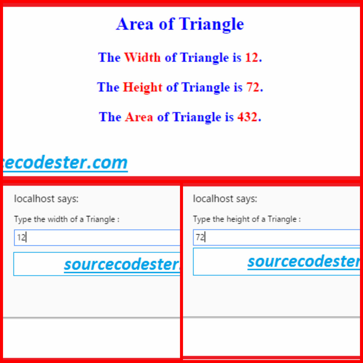 how to draw a traingle in javascript