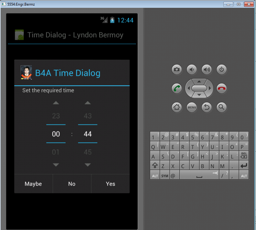 Android Time Dialog Tutorial using Basic4Android | Free