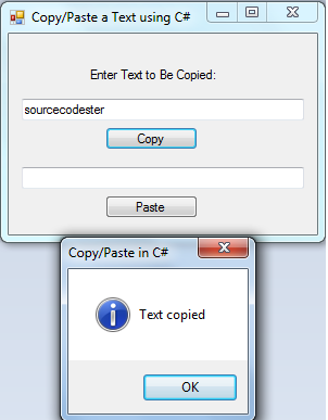 Copy paste a text using c free source code tutorials for In this house copy and paste