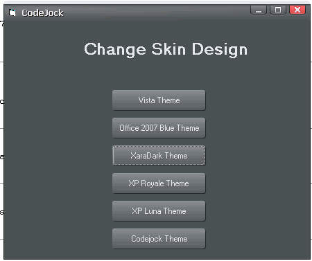 How to use Codejock to add themes to your VB6 0 Project | Free