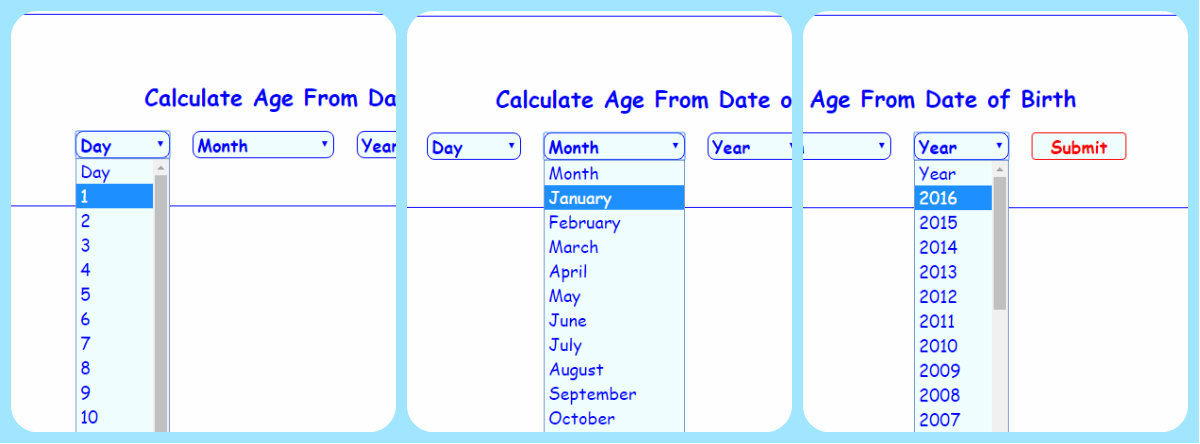 Calculate Age From Date of Birth using PHP | Free source code ...