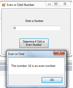 determine even or odd number using vb.net