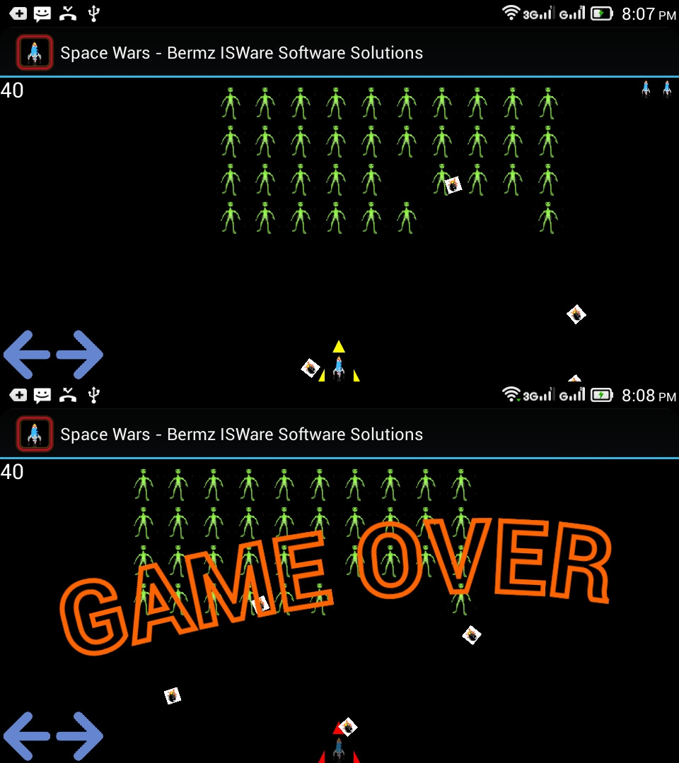 Game in Android using Basic4Android (Space Wars) | Free