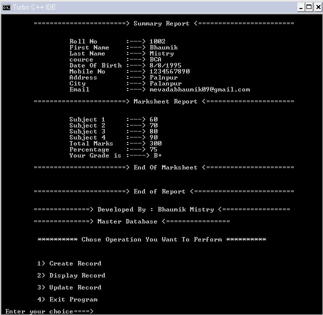 Student Information System In C Free Source Code