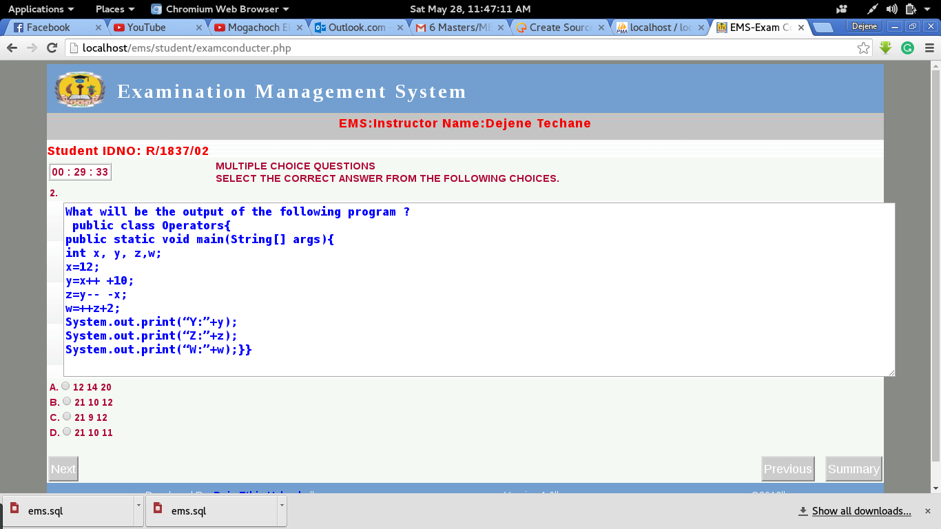 Student Result Processing System Java Project Code with C - oukas info