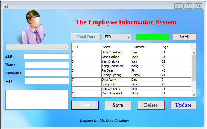 Employee Management System with JAVA GUI JFRAME | Free Source Code