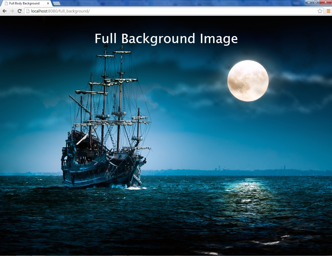 Full Background Image in CSS | Free source code, tutorials ...