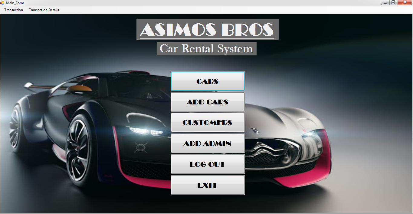 simple car rental system using vb net