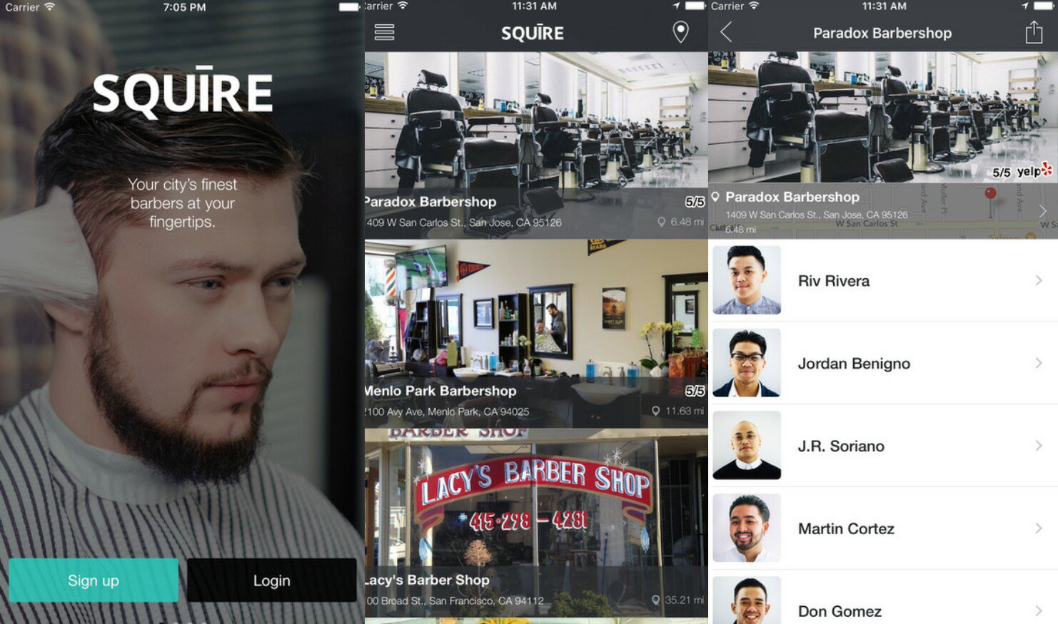 Mobile App Allows Users To Book A Barber Shop Appointment