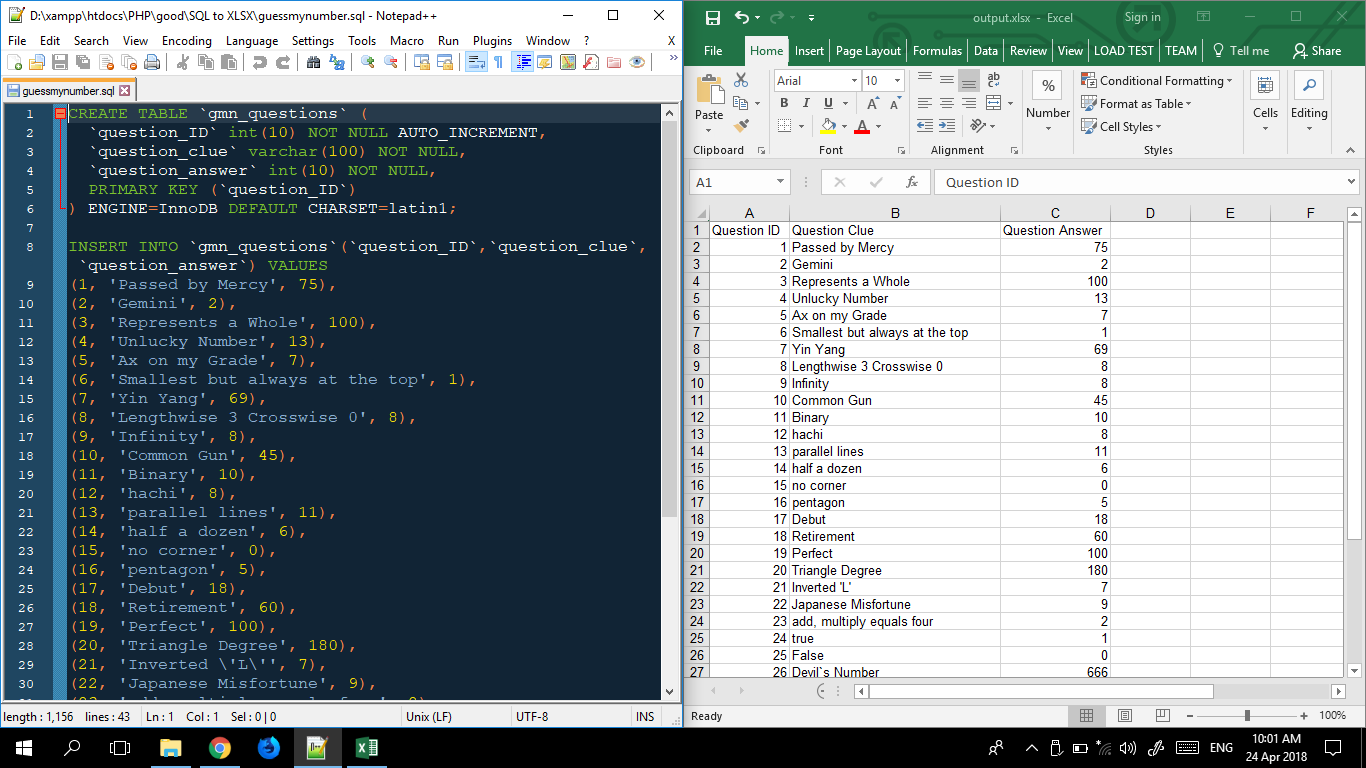 How to Convert SQL Database into Excel File (* xlxs) in PHP