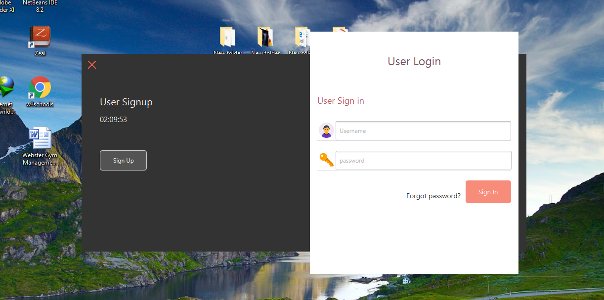 JavaFX animated login and sign up form | Free Source Code