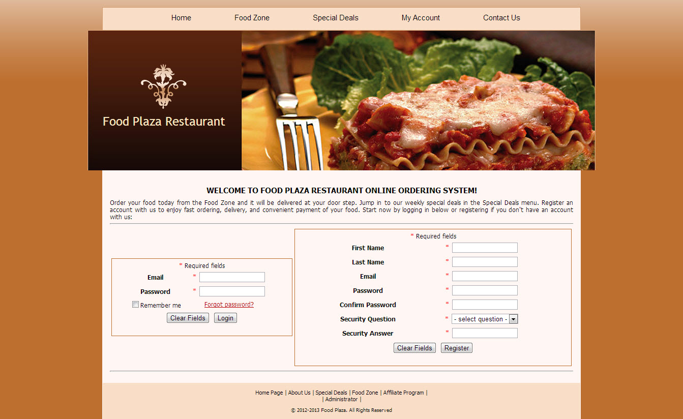 Restaurant Script Pizza Inn Project Free Source Code