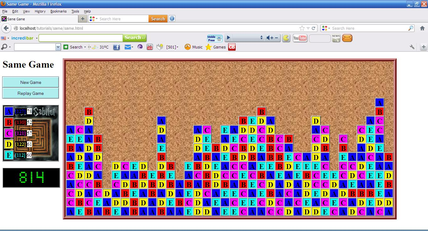 Same Game In Javascript Free Source Code Tutorials And
