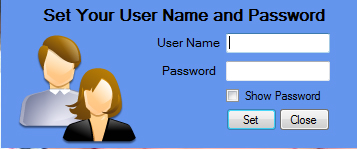Set Your User Name And Password